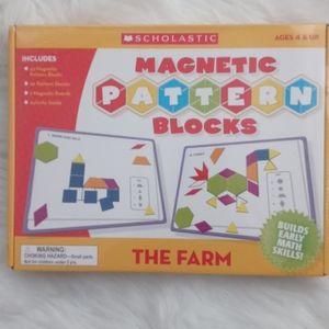 Scholastic Magnetic Pattern Blocks The Farm